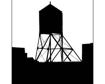 Chelsea Water Tower Image 2042 Blank Note Card