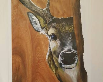 Adonis Stag Signed Print