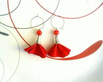 Christmas earrings, Christmas Jewelry, Red earrings, Holiday earrings, Holiday jewelry, Holiday jewelry.