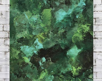Original custom abstract soft dreamy painting