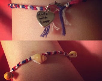 Red, White, and Blue Friendship Bracelet