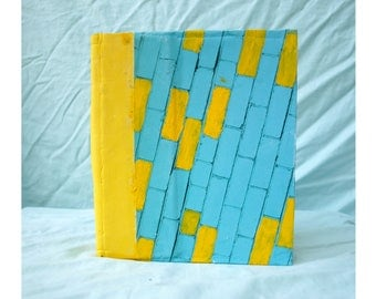 Journal: yellow/blue bricks