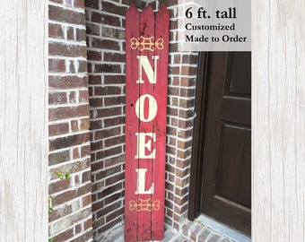 Winter Holiday Decor, Holiday Decor, Winter Decor, Seasonal Decor, Outdoor Winter, Christmas Decor, Christmas Sign, Holiday Sign, Noel Sign