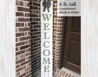 Welcome Sign, Welcome Wood Sign, Rustic Welcome Sign, Front Porch Decor, Front Porch Sign, Front Door Decor, Entryway Decor, Welcome Decor