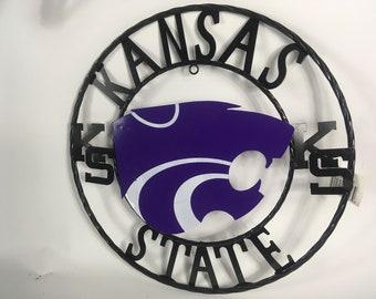 Kansas State Wildcats Metal Sign / Collegiate Sign