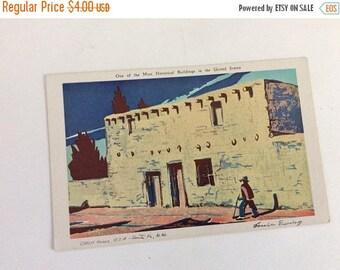 On Sale Oldest House USA Santa Fe NM, SFN-4 Land Of Enchantment, Vintage Postcard, Souvenir, Louis Ewing, Pueblo Building, Alfred McGarr, Li