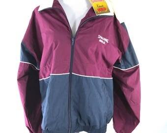 Vintage 90s Limited Spalding Gold Edition Track Jacket Windbreaker NWT Medium