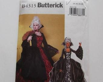Historic Marie Antoinette French - US Revolution Costume Butterick B4315- Uncut