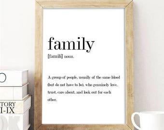 Family;Definition;Quote;Typography;Funny;Home Decor;Wall Hanging;Poster;Wall Print;Gift;Art;A5