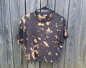 Nike Bleached Distressed Cropped T-shirt