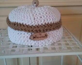 Crochet bread basket-hand made Textigarn