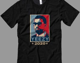 Kanye 2020 T ShirtYeezy for Preezy T Shirt  Yeezus 4 President - T Shirts Long Sleeves-Tanks-Sweatshirts-Hoodies-Youth-Womens-Mens-up to 5XL