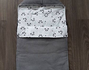 Footmuff Panda Mint/Waffle dark grey