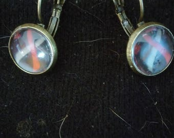 Dvt support ribbon earrings