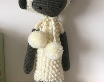 Lupo the Lamb crochet amigurumi toy by Lalylala