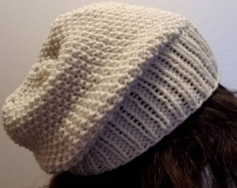 7's Slouchy Knit Hat Pattern
