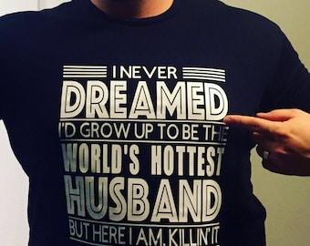 Worlds hottest husband shirt