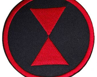 """InspireMeByAudrey Marvel Comics Avengers Black Widow Embroidered Sew/Iron-on Patch/Applique 3"""""""