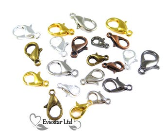 Lobster Clasps, 10mm Claw Trigger Clasps, Jewellery Findings Excellent for Bracelets and Necklaces, CBR