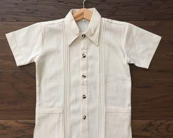 Boys dress shirt. Traditional guayabera shirt