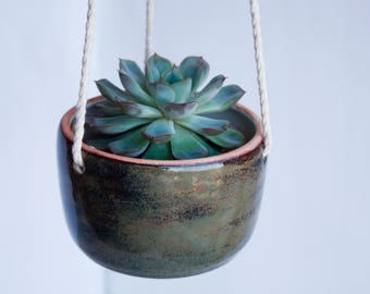 Succulent hanging planter - Wall Succulent Planter - Plant Hanger - Ceramic Planter - Plant Holder - Succulent Planter - Plant Pot