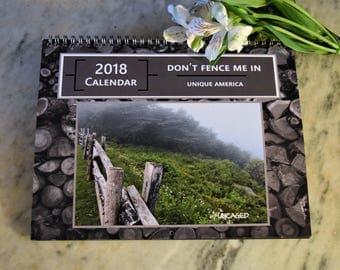 Calendar Don't Fence Me In 2018 Wall Calendar