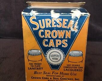 Vintage Sureseal Crown Caps 1940s