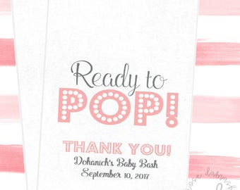 Ready To Pop, Baby Shower Bags, Favor Bags, Popcorn Bags, Candy Buffet, Popcorn Buffet Bags, Cookie Bags, Wedding Favors, RD88