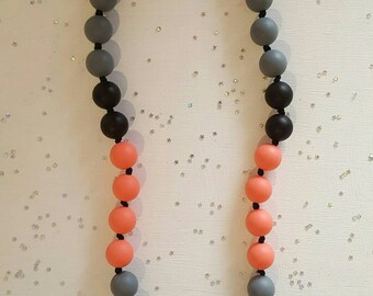 Necklace for MOM and baby food grade silicone chew