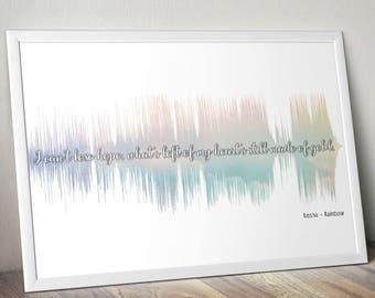 Kesha Rainbow Soundwave Poster Gift Audiophile