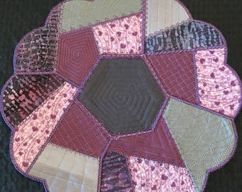 Purple quilted centerpiece