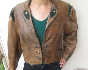 Sublime leather VERA PELLE, Super original 80's Made in Italy