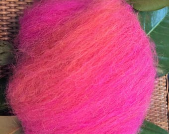 Alpaca fiber 1 oz beautiful pink with a touch of peach