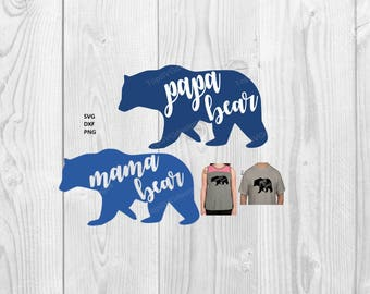 Papa Bear SVG file - - DXF PNG included - design for cricut or silhouette printing file