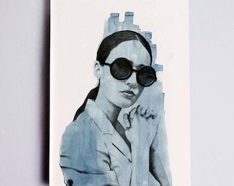 Fashion Illustration Print, Fashion Sketch, Fashion Drawing, Fashion Art, Fashion Poster, Fashion Wall Art, Fashion Watercolour, Vogue