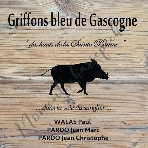 """Panneau personnalisé """" Griffons bleu de Gascogne  """""""