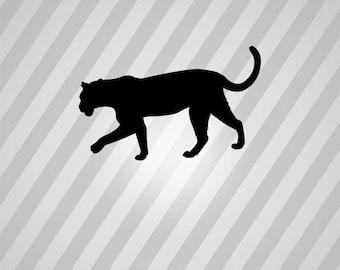 leopard Silhouette - Svg Dxf Eps Silhouette Rld RDWorks Pdf Png AI Files Digital Cut Vector File Svg File Cricut Laser Cut