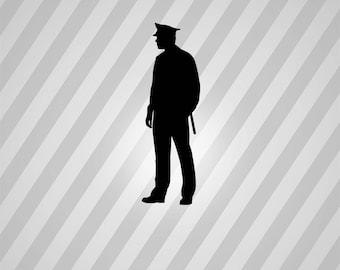 Police Silhouette Policeman - Svg Dxf Eps Silhouette Rld RDWorks Pdf Png AI Files Digital Cut Vector File Svg File Cricut Laser Cut