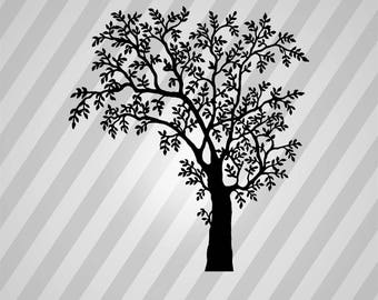 Tree Silhouette - Svg Dxf Eps Rld Rdworks Pdf Png Ai Files Digital Cut Vector File Svg File Cricut Laser Cut