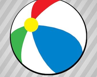 Simple Beach Ball - Svg Dxf Eps Silhouette Rld Rdworks Pdf Png Ai Files Digital Cut Vector File Svg File Cricut Laser Cut