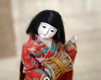 Japanese Geisha doll Post WWII  - Good Condition