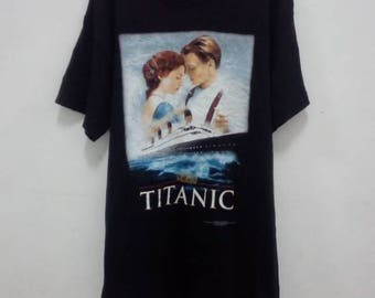 Vintage 90s Titanic Movie T Shirt Leonardo Dicaprio James Cameron