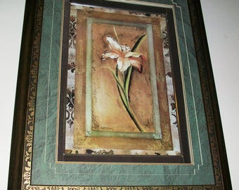 Listing 246 is an ornately framed triple matted still life print