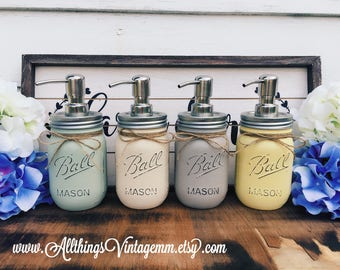 Mason jar soap dispenser, bathroom decor,farmhouse decor,rustic bathroom decor,Mason jar decor,farmhouse bathroom decor,country bathroom
