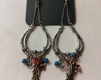 Horseshoe Dangle Earrings