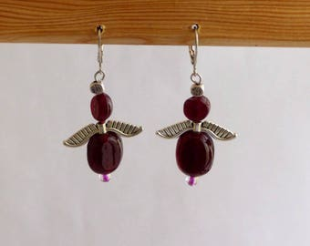 Earrings dangle glass