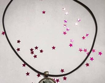 """Rubber necklace pendant 25 mm Choker """"Birdcage"""""""