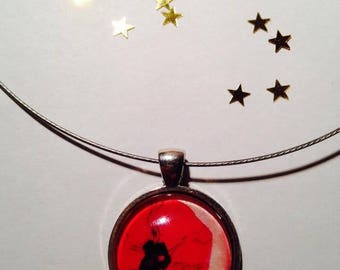 """Cable Choker necklace """"Poppy"""" 25 mm pendant necklace"""