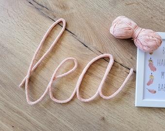 Yarn name / / name knitting / / baby - child's room decor
