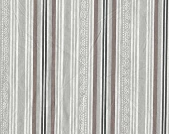 Fabric for Patchwork gray and Brown